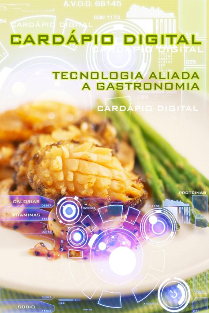 Capa do ebook Cardápio Digital, Tecnologia Aliada a Gastronomia