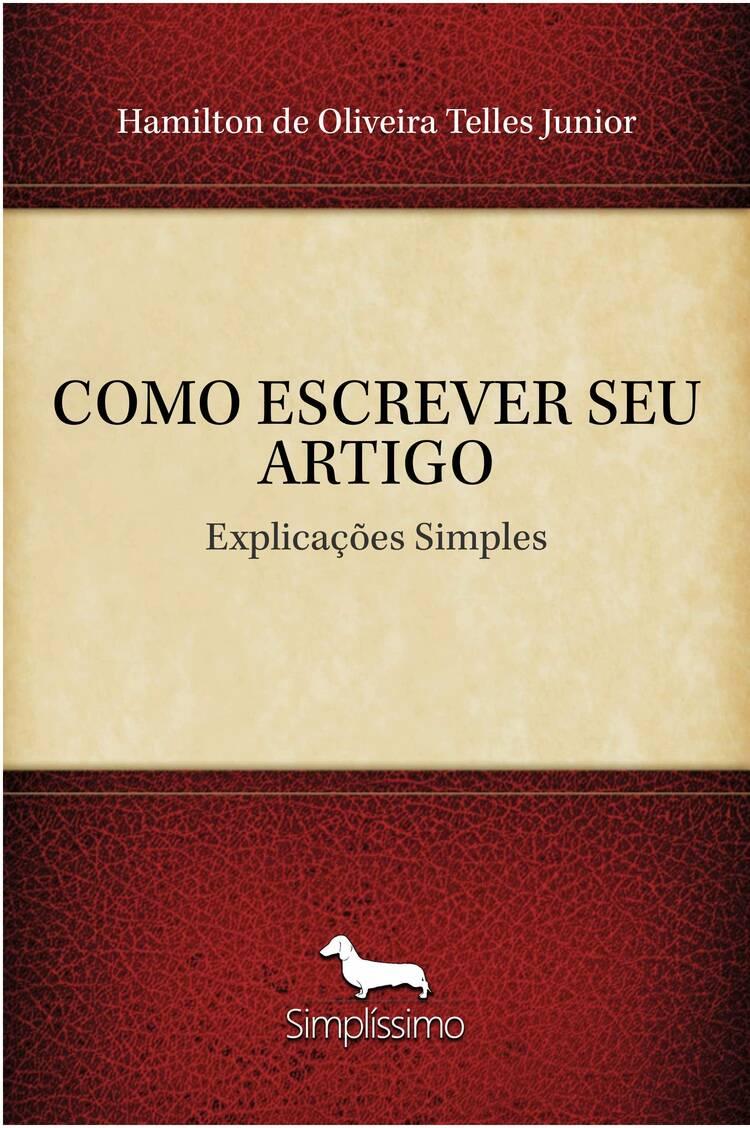 Capa do ebook COMO ESCREVER SEU ARTIGO