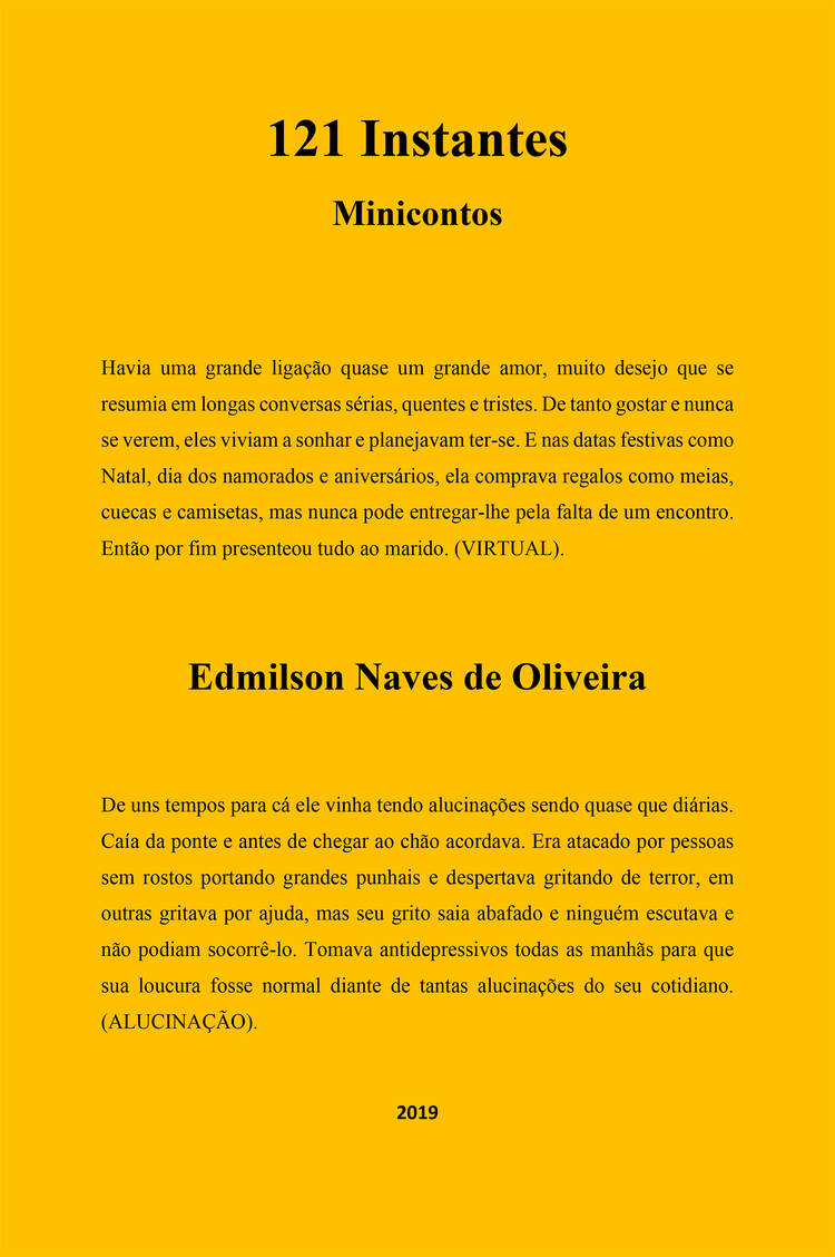 Capa do ebook 121 Instantes